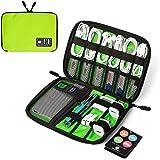 BAGSMART Elektronikzubehör Aufbewahrungstasche für Energy-Banks, USB Drive Shuttle, Kabel Grün