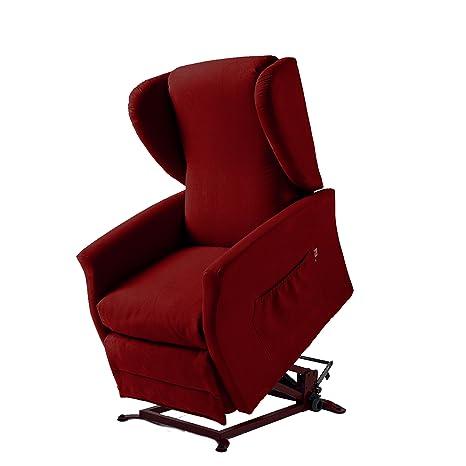 Global Relax Orietta Poltrona Lift, Legno, Rosso, 92x74x105 cm ...