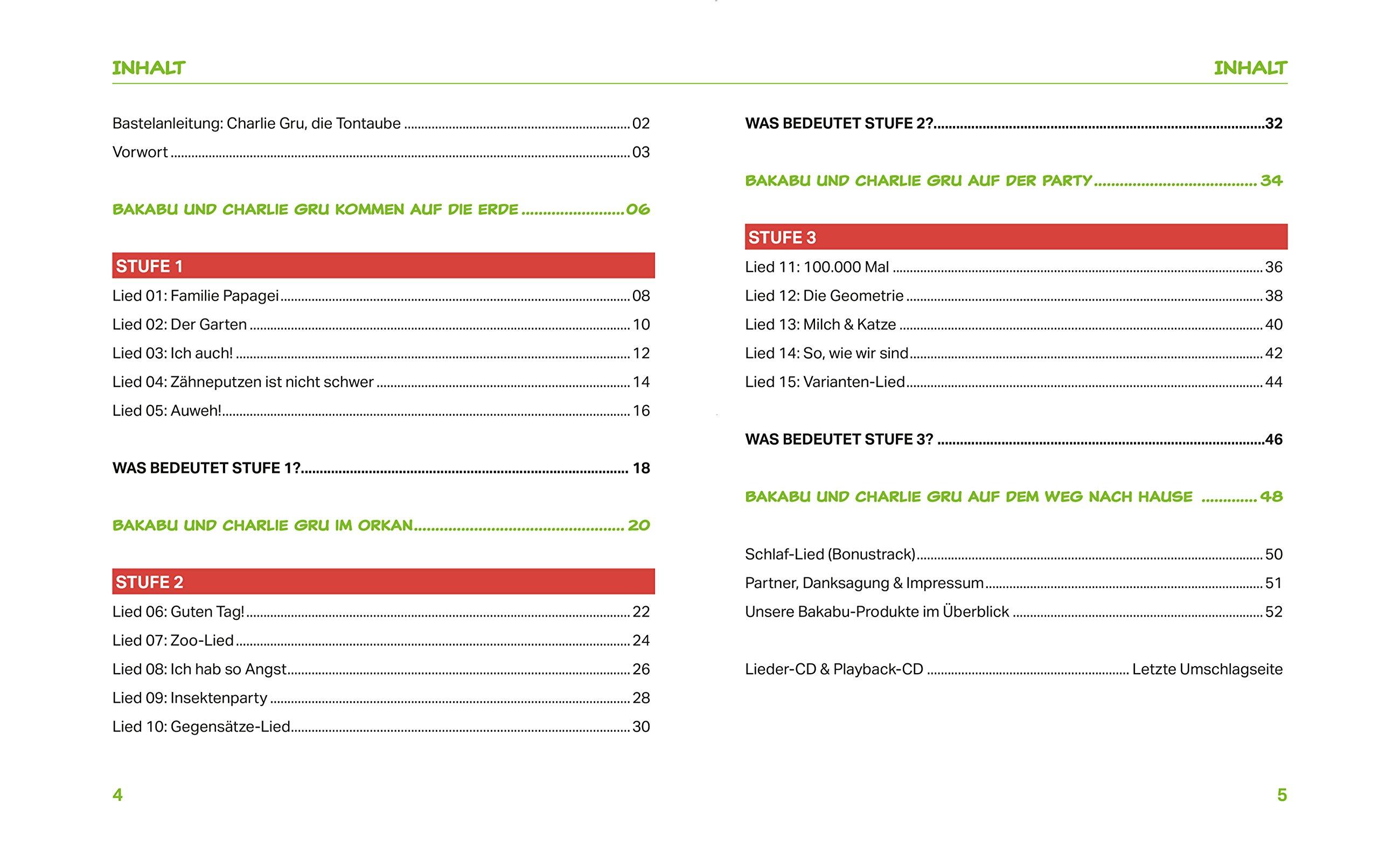 Hör zu, Bakabu - Album 3 inkl. 2 Audio-CDs : Kinderlieder zur ...