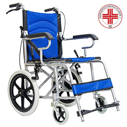 Silla de ruedas para discapacitados, con empuje asistido y palanca de freno
