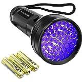 Black Light UV Flashlight,Vansky 2020 Upgraded 51 LED Blacklight Pet Urine Detector For Dog/Cat Urine,Dry Stains,Bed Bug…