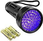 Black Light UV Flashlight,Vansky 2020 Upgraded 51 LED Blacklight Pet Urine