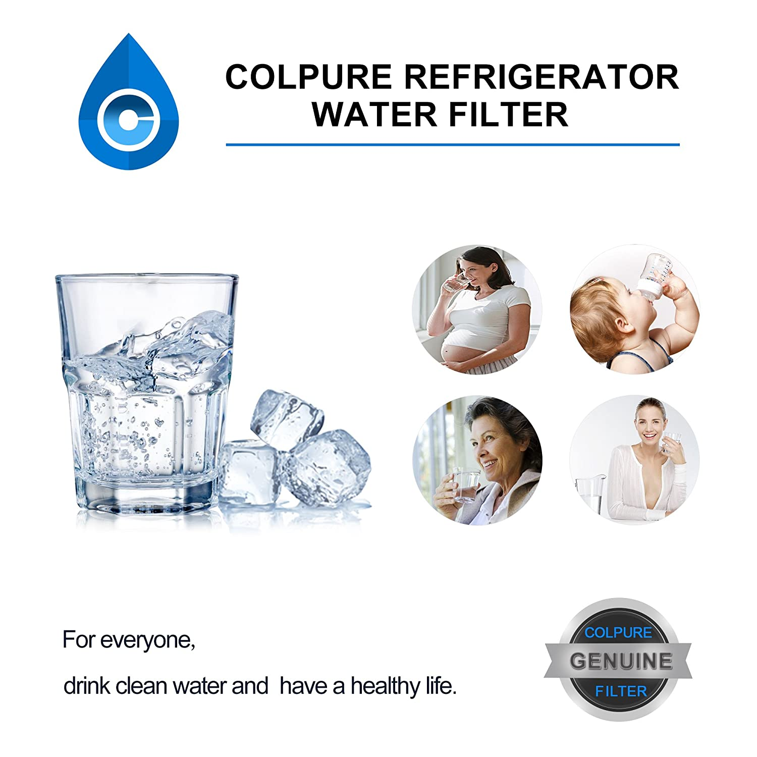 Amazon.com - Frigidaire ULTRAWF WF3CB Refrigerator Water Filter,  KENNMORE-469999 with WQA Certificate, 3 PACK(White) -