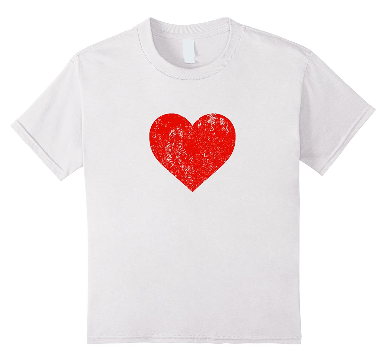 Womens Heart Distressed Valentines Shirt