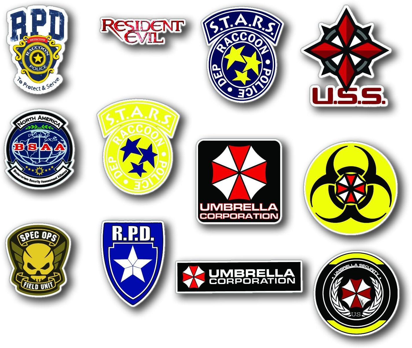 Umbrella Corporation Resident Evil Aufkleber Set Motiv Resident Evil Digitaler Druck 12 Stück Auto