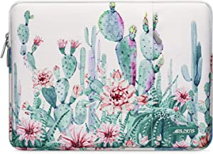 MOSISO Laptop Sleeve Compatible with 13-13.3 inch MacBook Pro, MacBook Air, Notebook Computer, Water Repellent Cactus Polyester Vertical Protective Carrying Case Cover Bag with Pocket, White