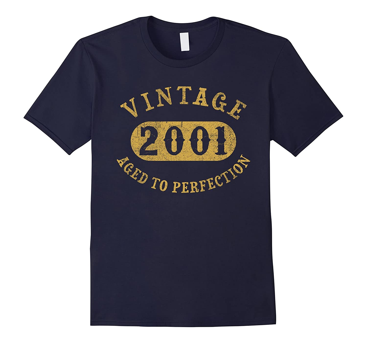 16 years old 16th Birthday B-day Gift Vintage 2001 T-Shirt-TD