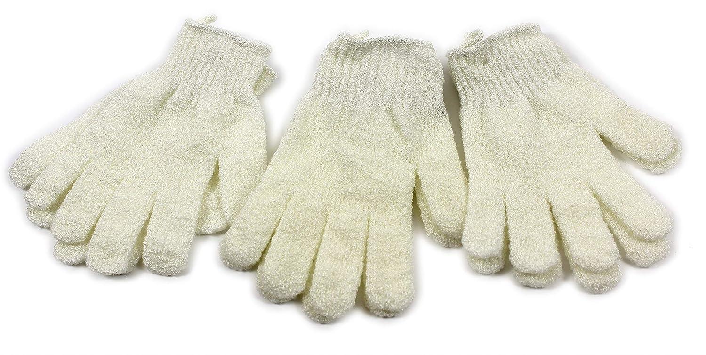NSPA Exfoliating Gloves Skin Body Bath Shower Scrub Massage Spa Tanning Buff (1 Pair) giftsbynet