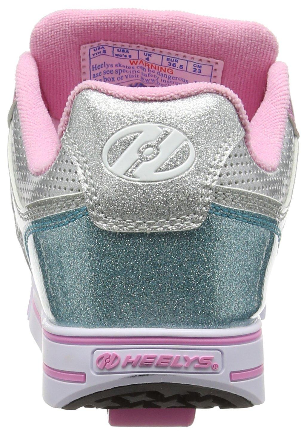 Heelys Girl's Motion Plus (Little Kid/Big Kid/Adult) Silver/Pink/Blue/Glitter Shoe by Heelys (Image #2)