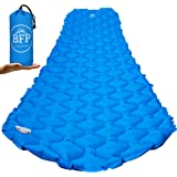 Ultralight Sleeping Pad by BFP Outdoors - Compact Blue Sleeping Mattress with Carrying Bag - Ideal for Camping, Hiking, Traveling, Backpacking, Hammock