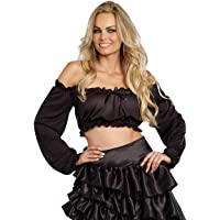 Dreamgirl Women's Sexy Ruched Ruffled Crop Top