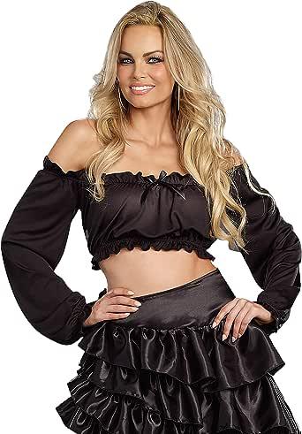 Dreamgirl Women's Ruffled Crop Top Costume Accessory