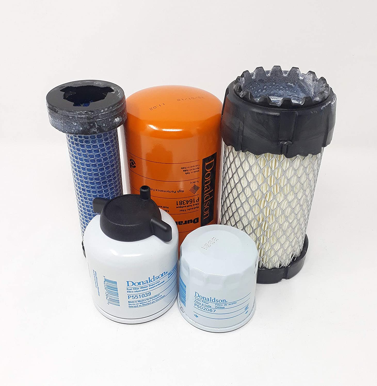 Amazon.com: Bobcat MT55 Filter Service Kit - Air (2), Oil, Fuel, Hyd Filters  (All Donaldson): Automotive