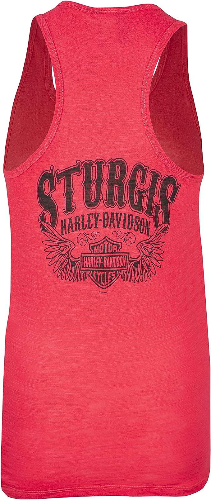 Washed Black Harley-Davidson Women/'s Embellished Reign Sleeveless Tank Top