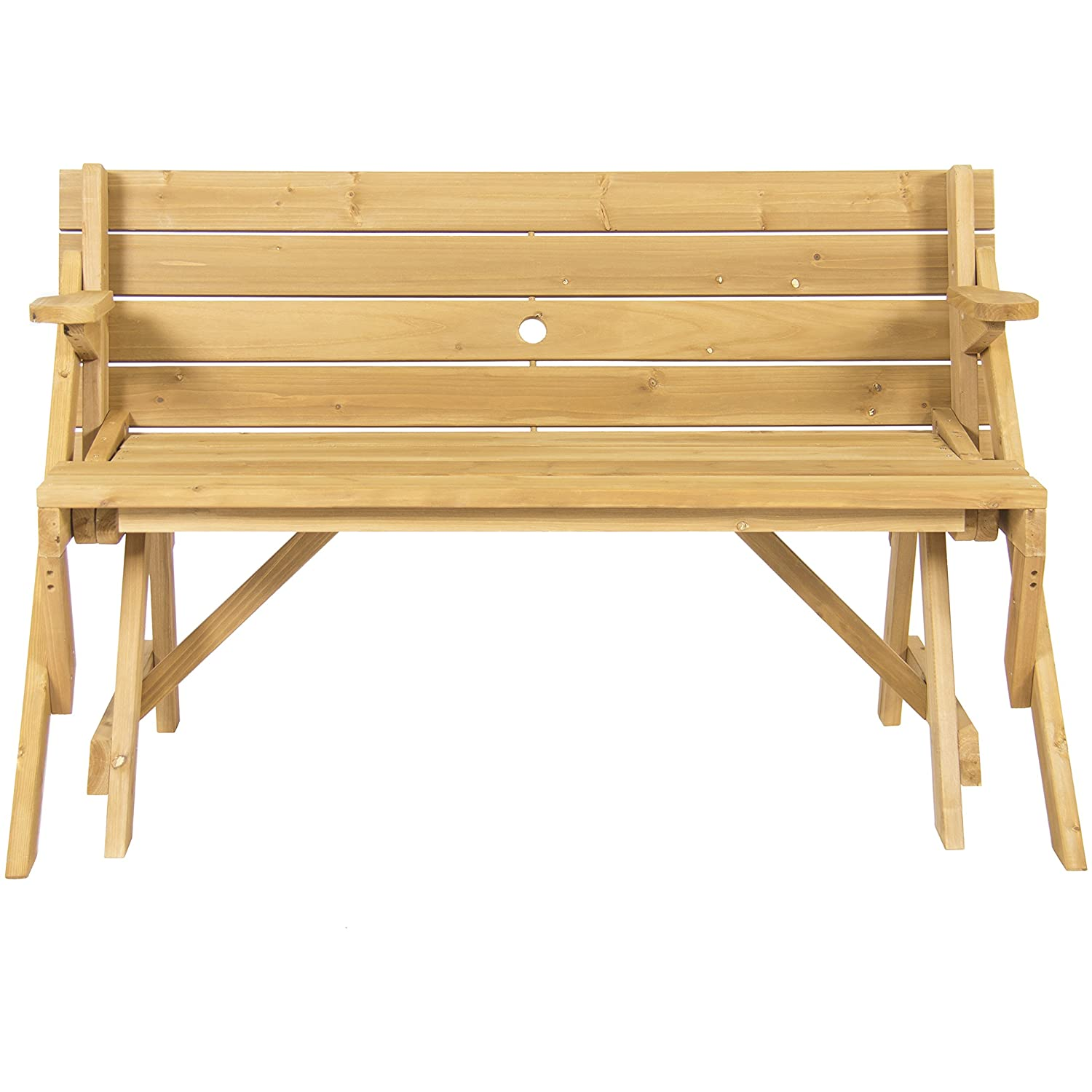 Garden Bench Table Part - 22: Amazon.com : Best Choice Products Patio 2 In 1 Outdoor Interchangeable Picnic  Table / Garden Bench Wood : Garden U0026 Outdoor