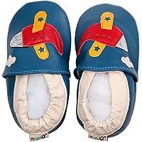 LSERVER Zapatos de bebé de Cuero Suave Pantuflas Infantiles Patuco de Suela Suave