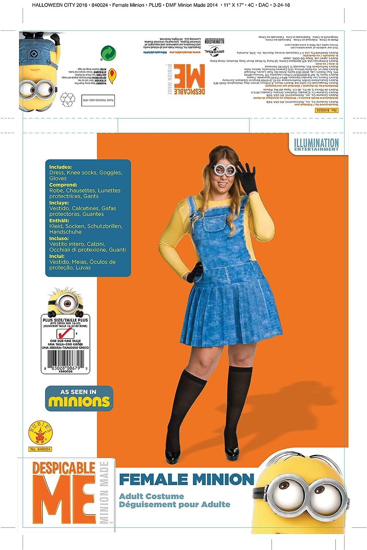 Amazon.com: Rubies Womens Minion Plus Size Costume, Multi, One Size: Clothing