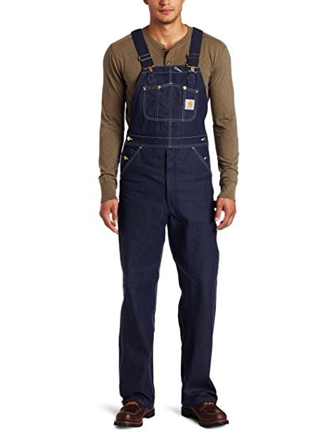 undefeated x super quality enjoy big discount Carhartt Men's Denim Unlined Bib Overall R08