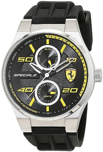 fashion scuderia watch ferrari s analog yellow new quartz men