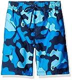 Kanu Surf Boys' Little Specter Quick Dry UPF 50+ Beach Swim Trunk, Camo Navy, Medium (5/6)