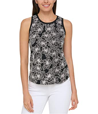 705cbae64021d1 Tommy Hilfiger Women's Printed Tank Top at Amazon Women's Clothing store: