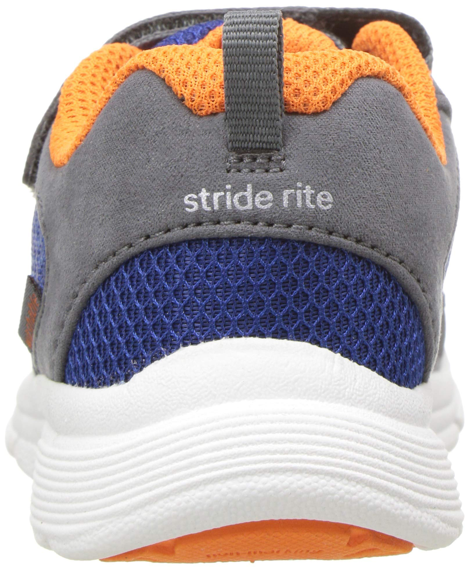 Stride Rite Boys' Made 2 Play Taylor Sneaker, Navy/Orange 7.5 M US Toddler by Stride Rite (Image #2)