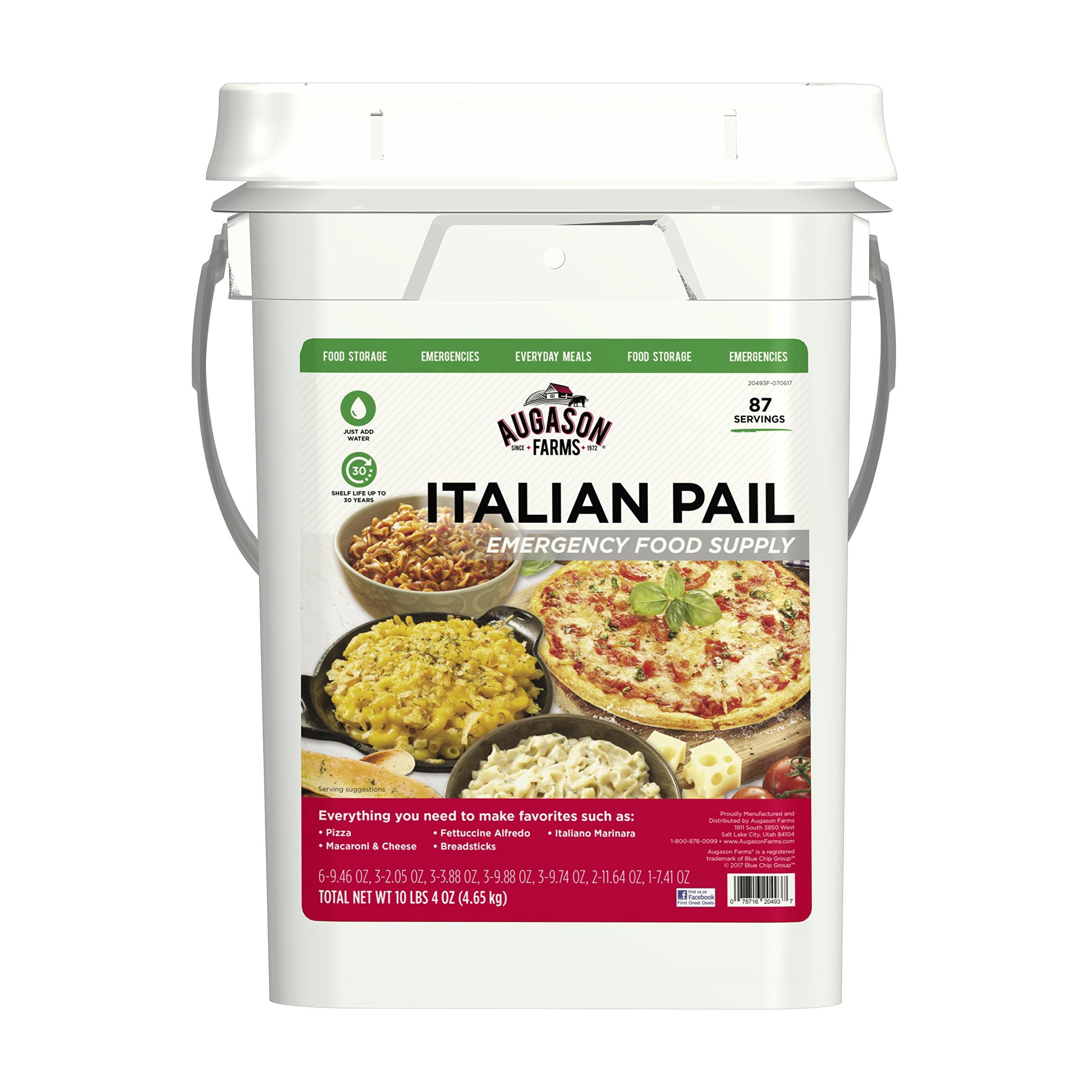 Augason Farms Italian Variety Pail Emergency Survival Food Everyday Meal Prep by Augason Farms