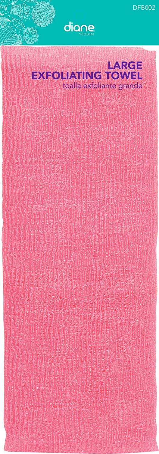 Amazon.com: Fromm Diane Beauty Large Exfoliating Towel Pink 12 inch by 36 inch: Beauty