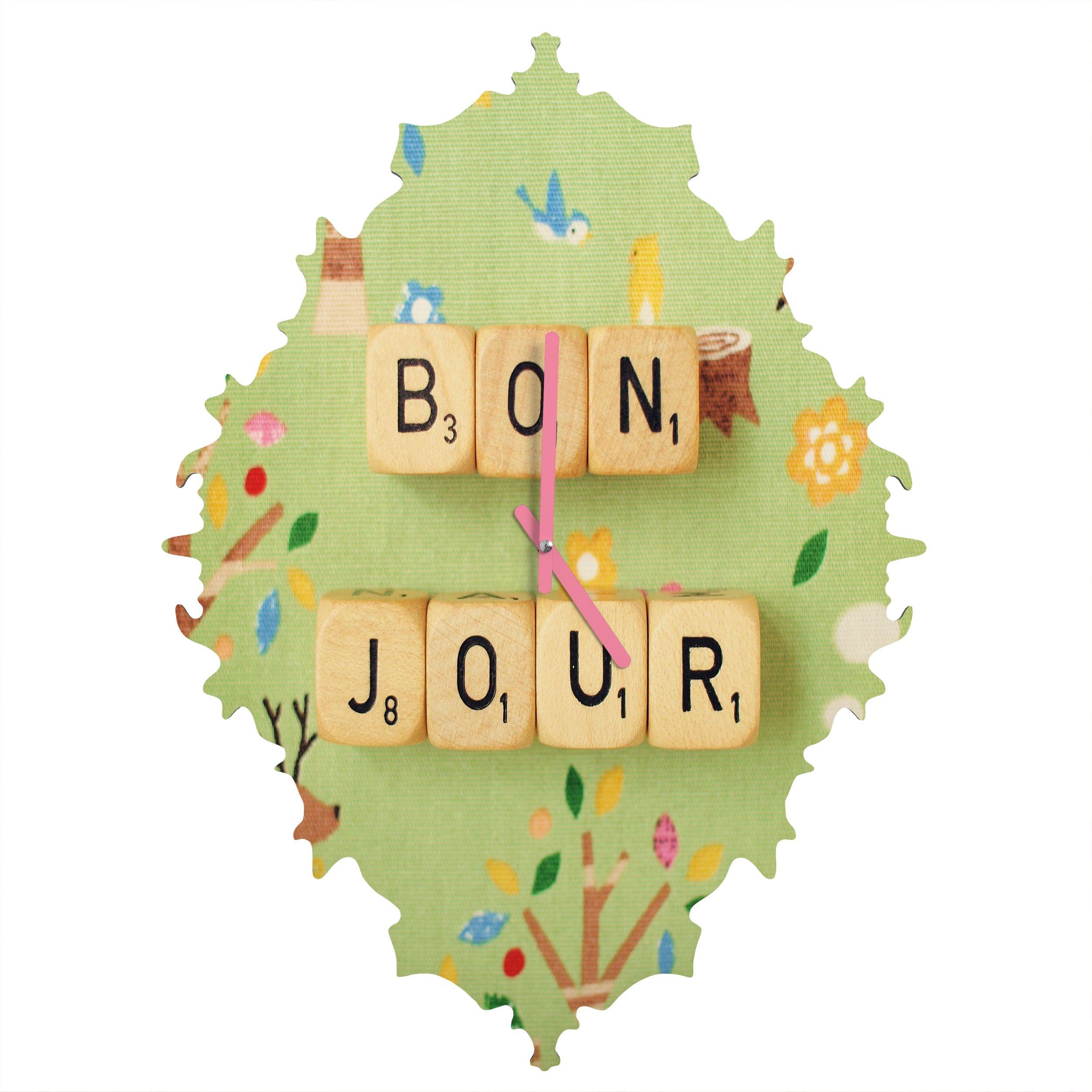 Deny Designs  Happee Monkee, Bonjour, Baroque Clock, Medium by Deny Designs