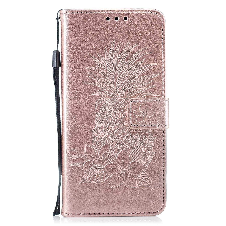 The Grafu® Coque Portefeuille pour Huawei Mate 10 Lite, Housse en Cuir de Protection avec Emplacements pour Cartes et Monnaie, Anti Rayures Support Coque, Or Rose
