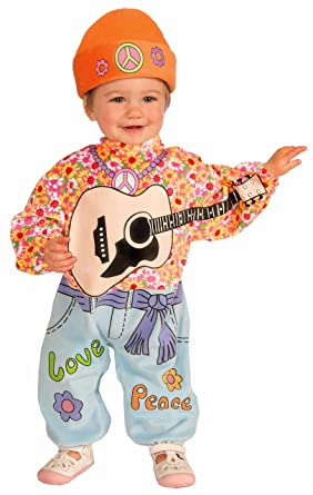 Forum Novelties Baby Boyu0027s Lilu0027 Rock Star Baby Hippie Costume Multi ...  sc 1 st  Amazon.com : hippie costume for boy  - Germanpascual.Com