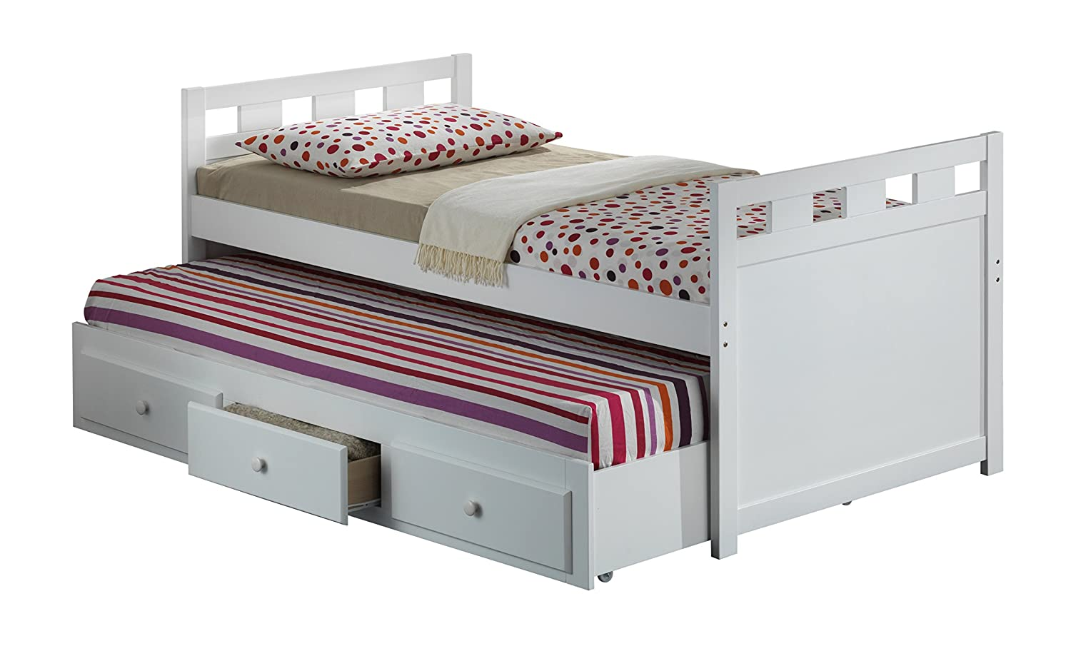 amazoncom broyhill kids bed with trundle bed and drawers white kitchen u0026 dining