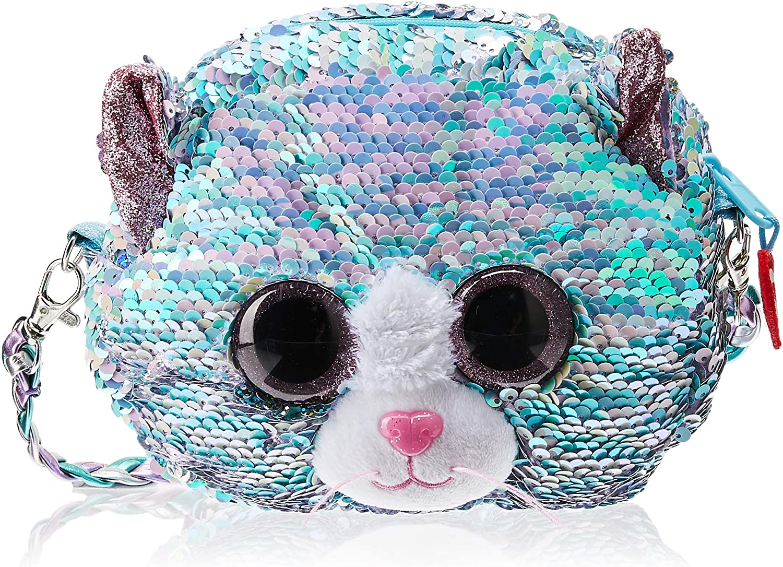 Ty – Bolso bandolera de peluche con lentejuelas – Whimsy el gato TY95133, azul y rosa: Amazon.es: Juguetes y juegos