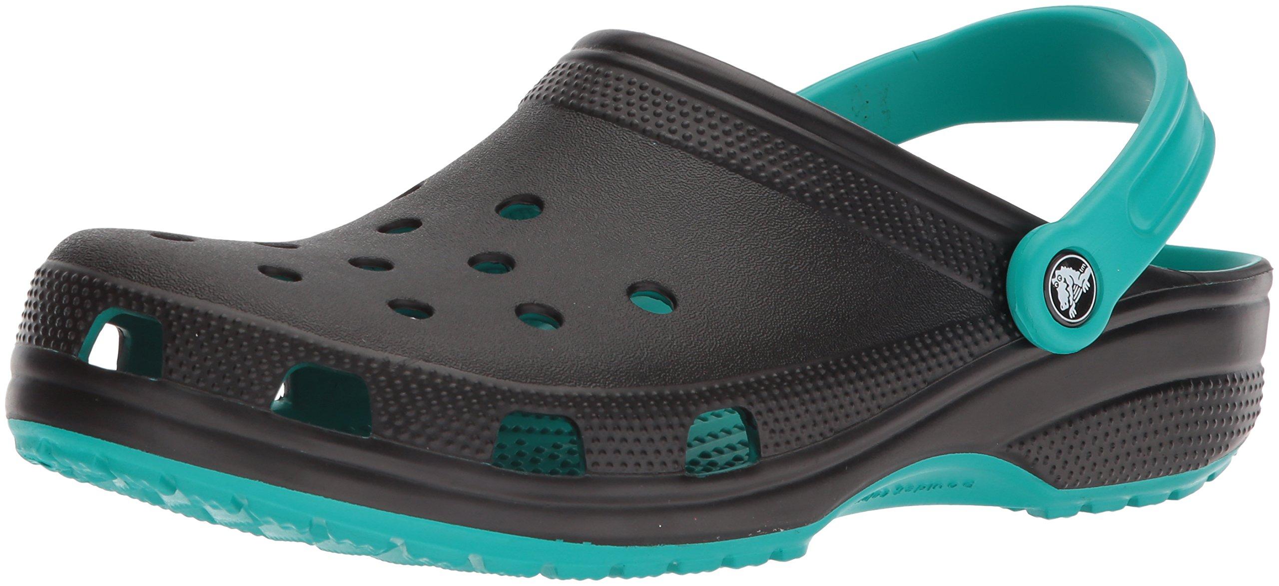 Crocs Classic Carbon Graphic CLG Clog, Tropical Teal, 10 US Men/ 12 US Women M US