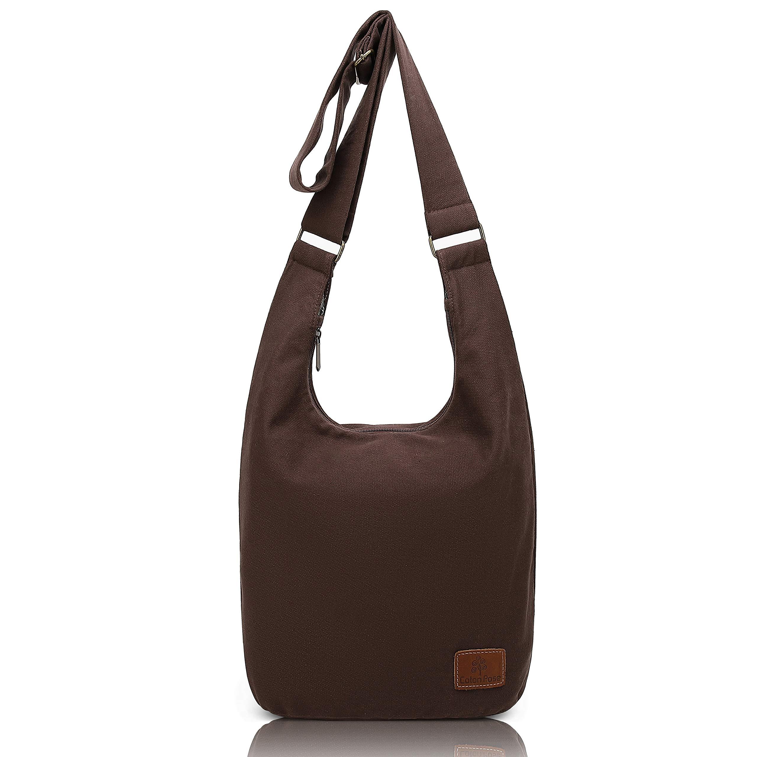 Hippie Crossbody Bag Top Zip Cotton Sling Bag Jacquard cloth Handmade Bags