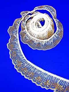 Royal Blue DOUBLE Ruffle 2 Inch Candlewick Lace Trim~By 5 Yards