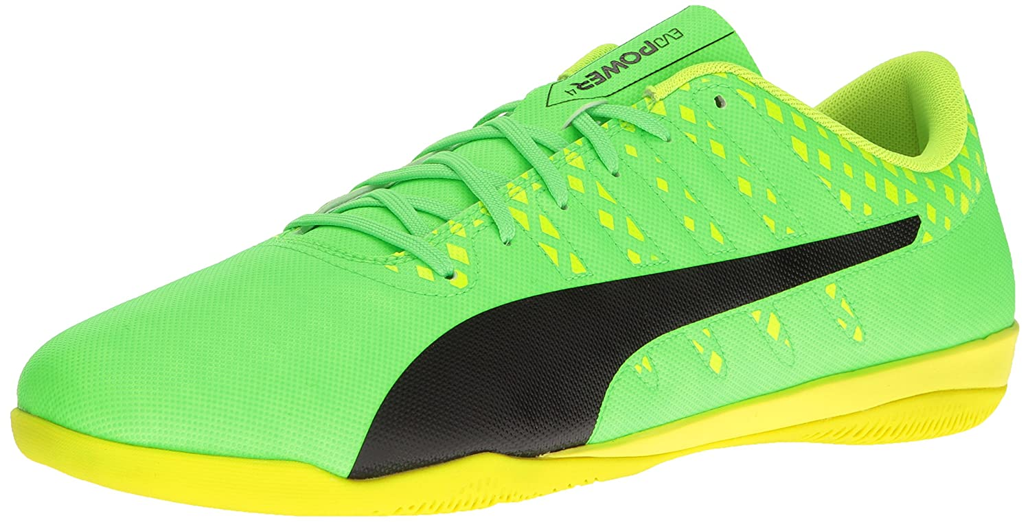 PUMA Men's Evopower Vigor 4 IT Soccer Schuhe, Grün Gecko schwarz-Safety Yellow, 14 M US