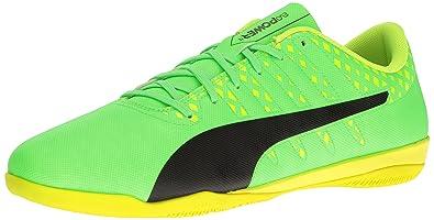 736ec9f55f6f PUMA Men s Evopower Vigor 4 IT Soccer Shoe Green Gecko Black-Safety Yellow