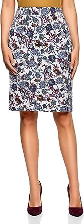 oodji Collection Mujer Falda-Lápiz Clásica Recta: Amazon.es: Ropa ...