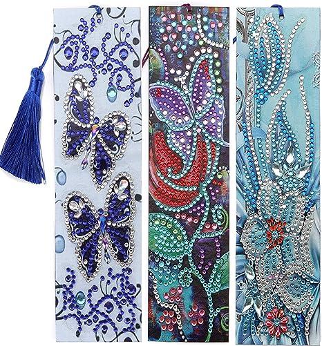 5D Diamond Painting Bookmark Embroidery Art DIY Tassel Craft Book Mark Kit Gift
