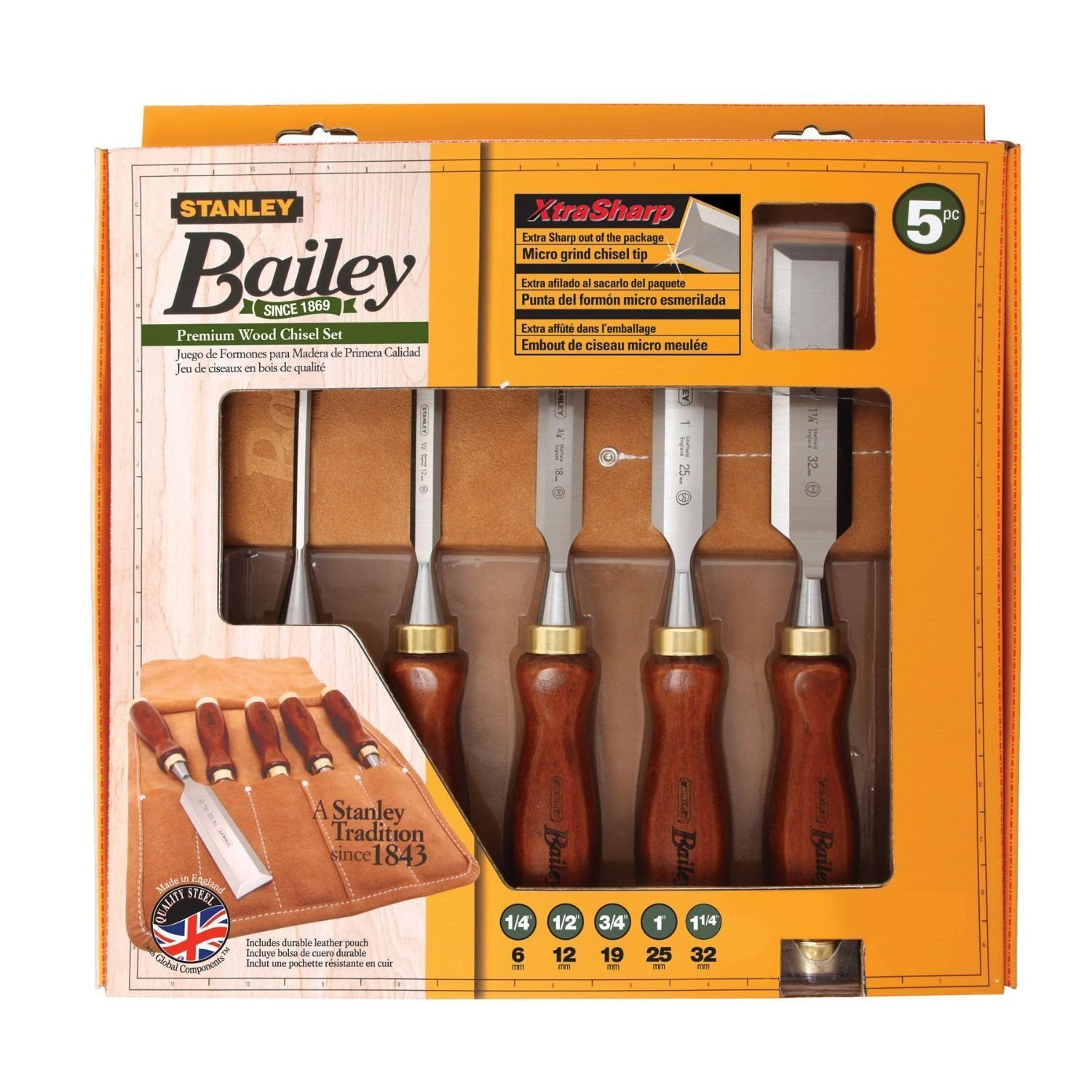 Stanley 16-401 Bailey Chisel Set Pack 5-Piece Sharp Woodwork Craft Carving ..#from-by#_bytopdeals, #UGEIO98152206579965 by Anihoslen (Image #2)