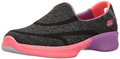 4843d38c36b8 Skechers Childrens Girls Go Walk 4 Awesome Ombres Slip On Shoes (10.5 UK  Junior)