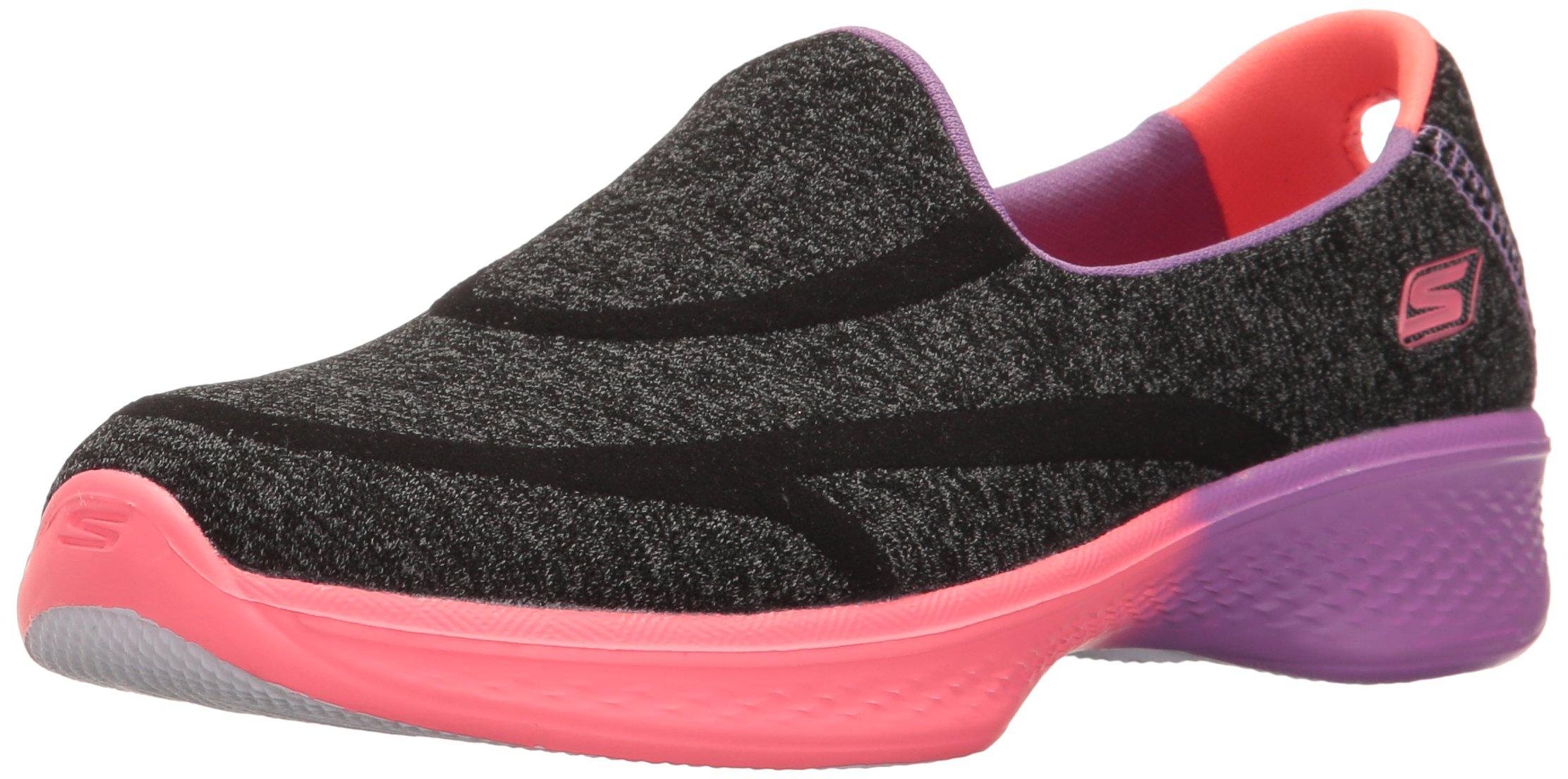 Skechers Kids Girls Go Walk 4-Awesome Ombres Loafer,Black/Multi,5.5 M US Big Kid