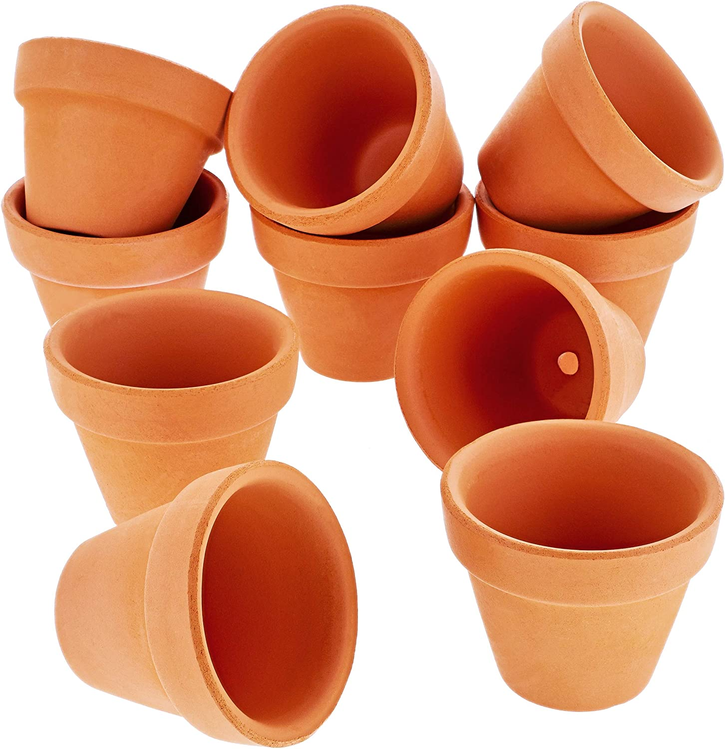 Succulent Pots, OAMCEG 4 Inch Succulent Planters, Set of 6 White Ceramic Succulent Cactus Plant Pots with Bamboo Tray Plants NOT Included