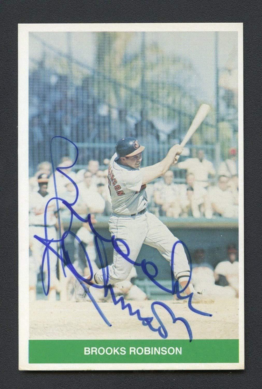 Brooks Robinson 1984 Tcma Autographed Signed Baltimore Orioles JSA Authentic Sticker