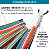 Vivere Double Sunbrella Hammock with Space Saving