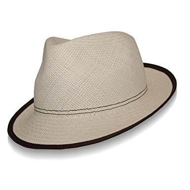4c92683b020b1 Barbisio New Orleans Panama Fedora-Natural-56 at Amazon Men s Clothing  store  Panama Hats