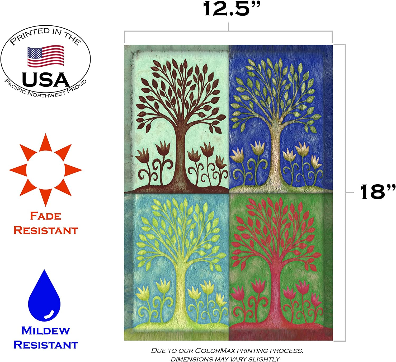 Amazon Com Seasons Garden Flag 12 5 X 18 Outdoor Flags Garden Outdoor