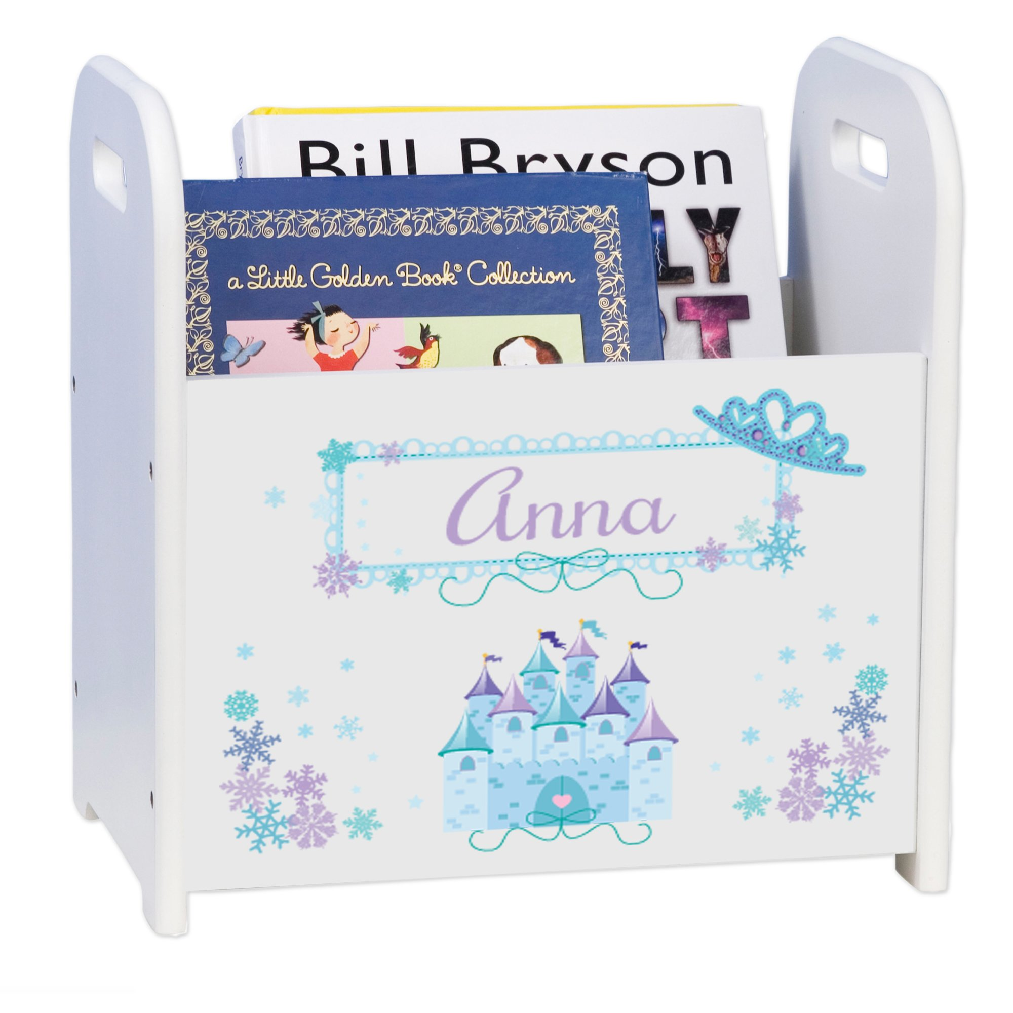 MyBambino Personalized Winter Princess Castle Book Caddy and Rack by MyBambino (Image #1)
