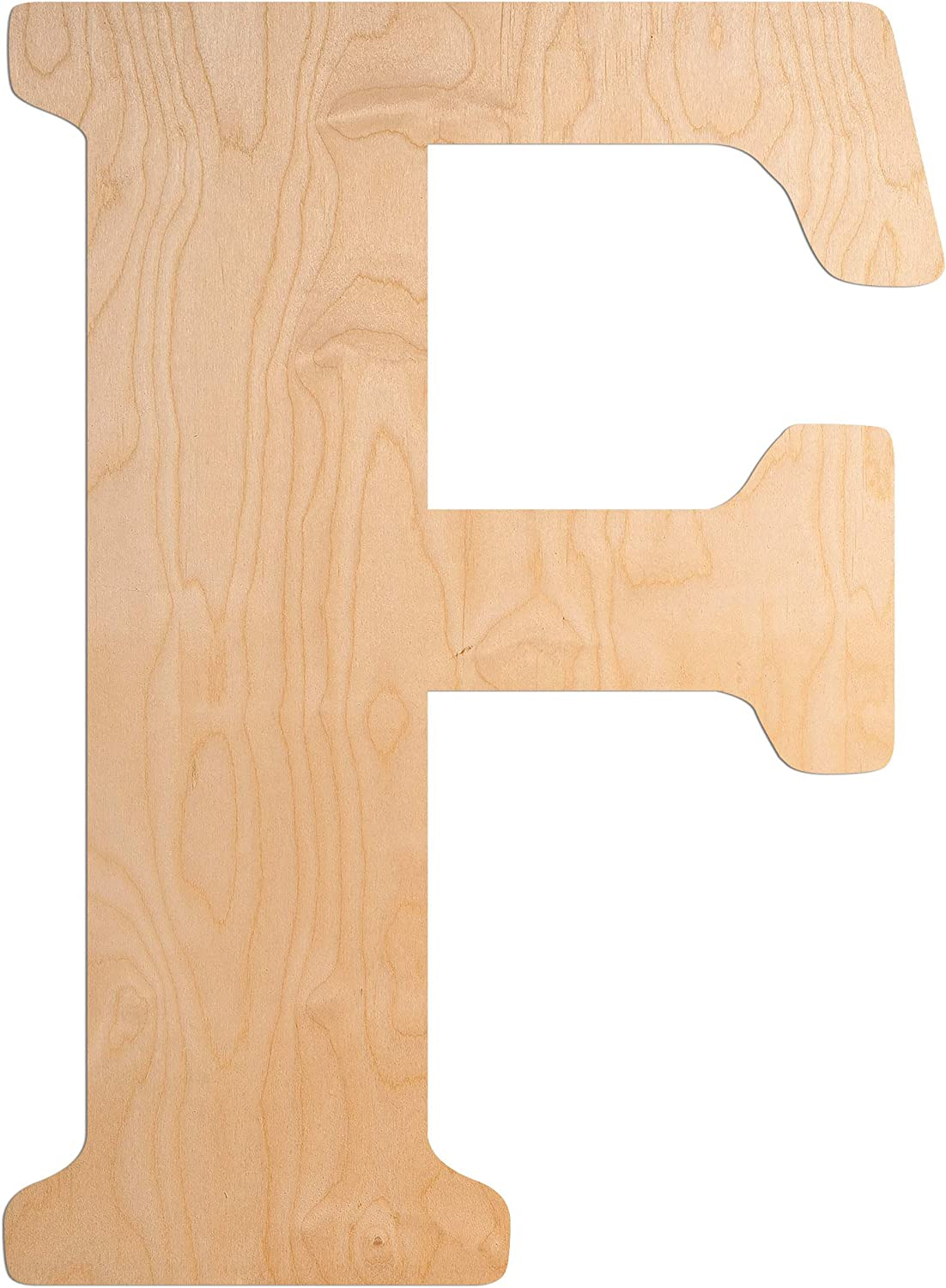 UNFINISHEDWOODCO 18 Inch Vintage Style Wooden Letter Monogram for Home Décor - Unfinished Vintage Wood Large Initials for Bedroom or Kitchen, Wall Art Above Baby Crib, Nursery or Teen Room - Letter F